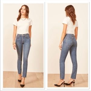 NWT Reformation Melissa High and Skinny Jeans Sz31